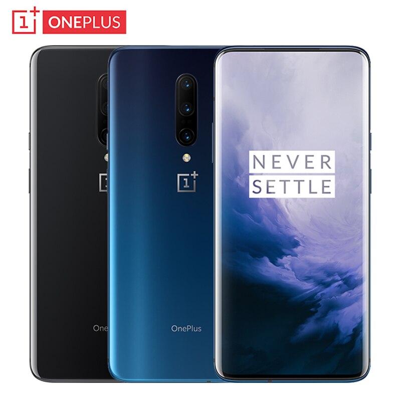 Nova rom global oneplus 7 pro telefone móvel 6.67 polegada fluido amoled display 6 gb + 128 gb snapdragon 855 48mp câmeras nfc smartphone