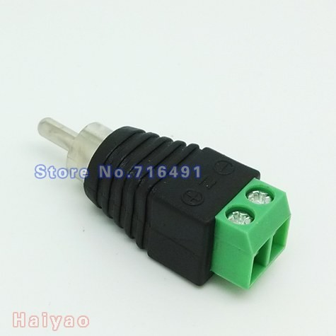 50PCS/LOT COAX-CAT5 RCA MALE JACK plug adapter for audio  cable connector or video splitter to cctv camera Accessories