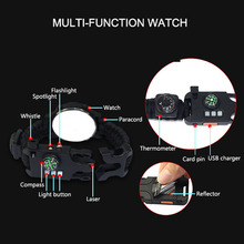 Camping Survival Rechargeable Infrared SOS Watch