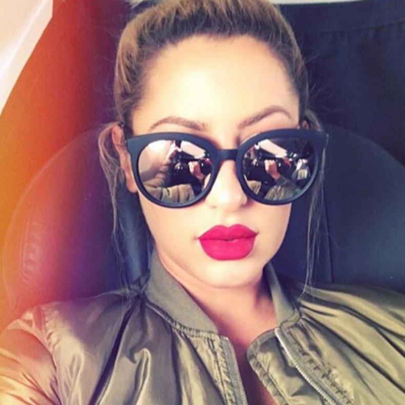 Luxury High Quality Cat Eye Sunglasses Women Brand Designer 2017 Retro Sun Glasses For Women Lady Sunglass Female Mirror Glasses (2)