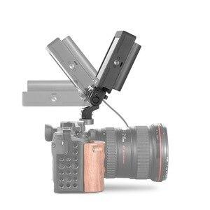 Image 4 - Держатель для монитора с двойной камерой SmallRig, шарнирное крепление EVF, крепление для монитора с контактами для определения местоположения Arri 2174
