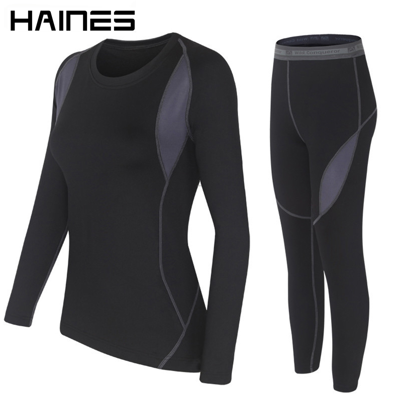 HAINES Thermal Underwear Women Winter Clothes Hot-Dry Technology Surface Thermo Underwear Women Long John sous vetement femme
