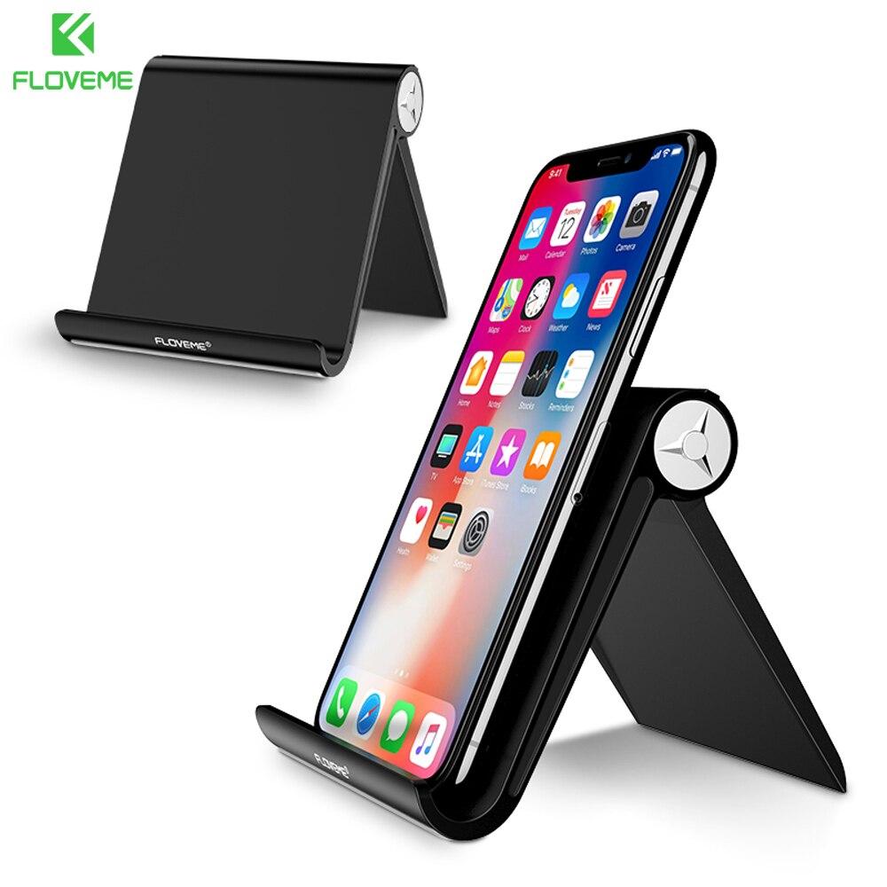 FLOVEME Pop Mini Mobile Phone Holder Foldable Cell Phone Holder Universal Desk Phone Stand for Redmi Huawei Oneplus Black Socket ...