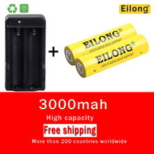 Купить 2Pcs 3.7V 18650 3000Mah Rechargeable Battery Li Ion Batteries Li-Ion Lithium With 2*battery 1*charger Led Flashlight Battery 5C