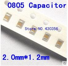Free shipping 0805 SMD capacitor  1uf 50V  105Z   200PCS