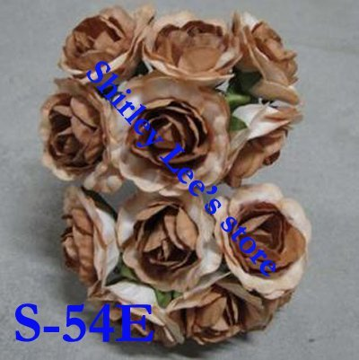 Wholesale--144 bunches=864pcs SMALL  paper rose ,craft supplies, for scrapbook ,card making(Free Shipping by Express)