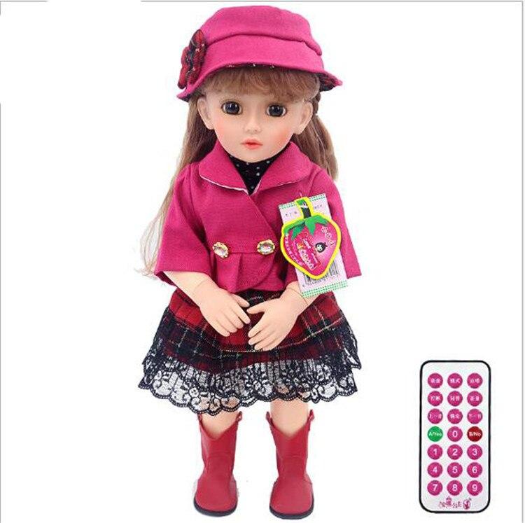46 cm poupée interactive intelligente parlant princesse fille bébé poupée cadeau vinyle bébés vivants poupée BJD bebes renaître silicone poupée jouets