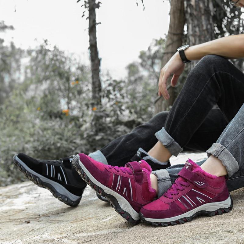 Para Las Ernestnm Deporte Mujeres Black Impermeable Plataforma Nieve Botas De Invierno Tobillo Senderismo Zapatillas La Del Zapatos Rebaño purple Mujer Caliente XaX1wqr5x