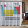 Shower Curtain Bathroom Waterproof 3d Color Funny Printing Kids Learn Pattern Chemical Periodic Table 12
