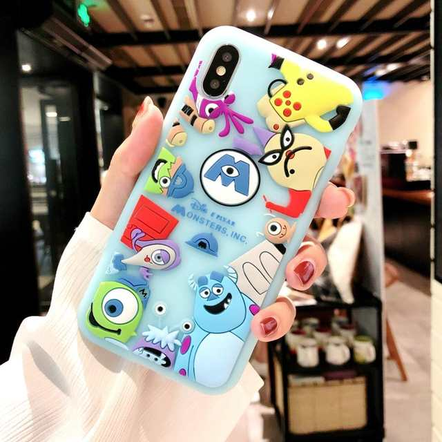 Japan Korea Cartoon 3D Toy Story Three Eyes Silicone Cover Iphone