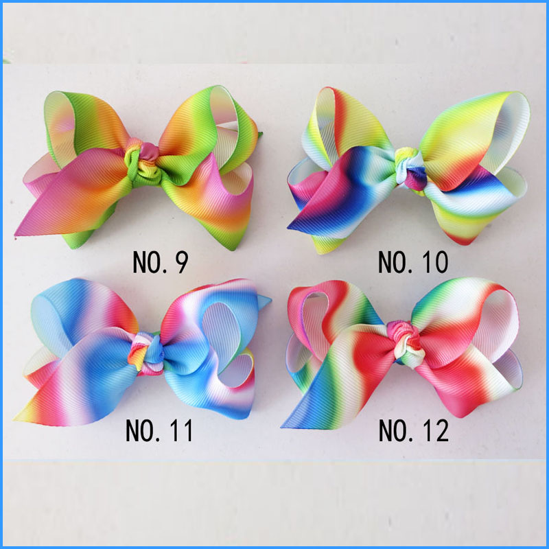 14 BLESSING Good Girl Boutique 3.5 New Rainbow ABC Hair Bows Clip Accessories