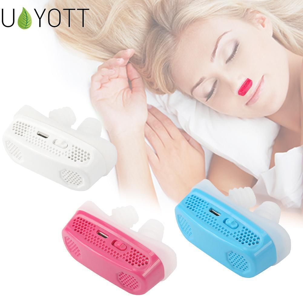 Mejora de silicona eléctrica Anti ronquido de nariz para detener la respiración aparato protector para dormir Mini Dispositivo de ronquido alivia los ronquidos