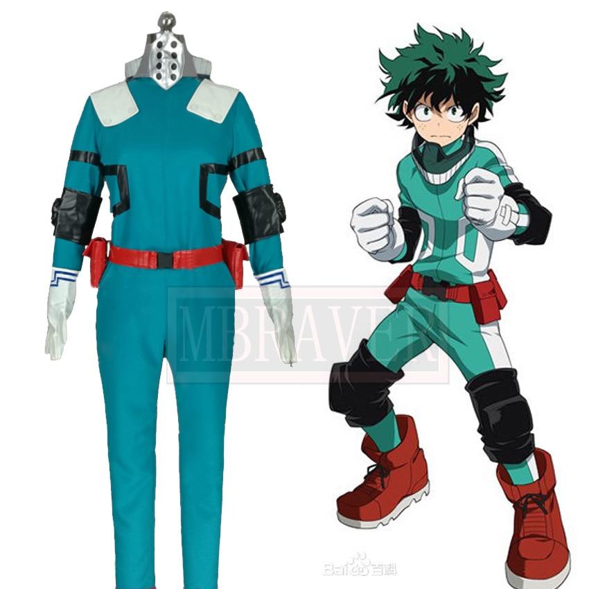Mon héros académique Boku pas de héros académique Midoriya Izuku Deku bataille Cosplay Costume fait n'importe quelle taille
