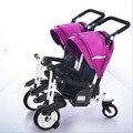 Los gemelos cochecito de bebé cochecitos de niños bicicletas triciclos gemelos pueden sentarse cochecitos de bebé