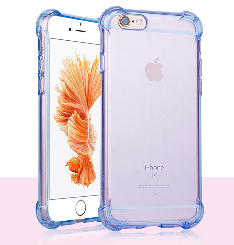 Soft Silicone Transparent Bumper Phone Case For iPhone SE 2020 X XS 6S 8 Plus Cover 11