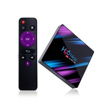H96 Max Android Tv Box 9.0 Rockchip Rk3318 4K Smart Tv Box 2.4G/5G Wifi Bluetooth 4.0 Iptv Android Box(Uk Plug)