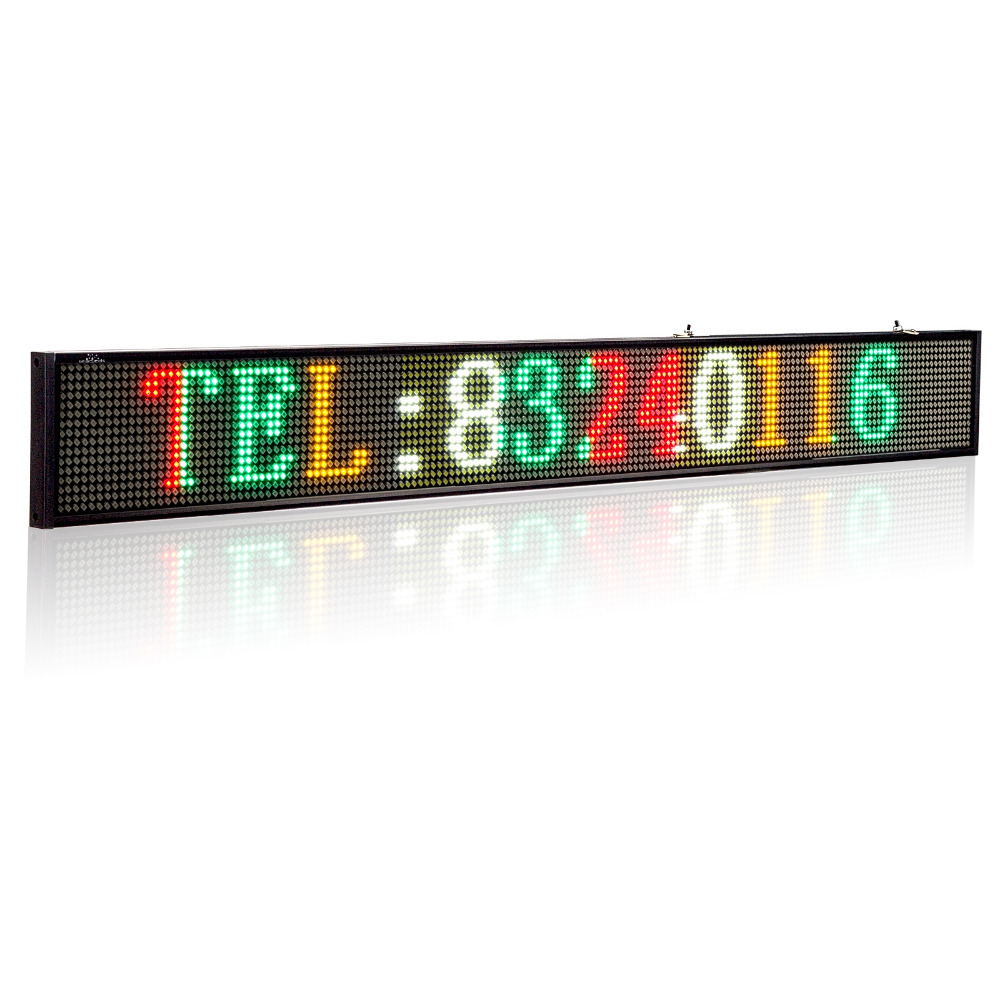 P5 16 160 SMD LED Signs 32 quot x 3 7 quot Storefront Message Board Programmable Scrolling Display Perfect solution for advertising in LED Displays from Electronic Components amp Supplies