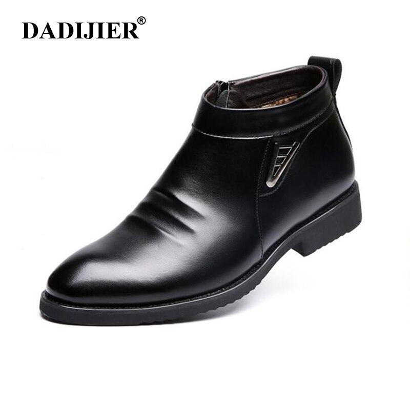 Dadijier 2017 осень-зима Vlevet Ретро Мужские ботинки удобные молнии брендовая повседневная обувь Разделение кожа Снегоступы Обувь st91