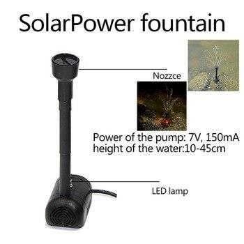 7 V 1.2 W lumière LED panneau solaire pompe à eau Kit piscine jardin ...