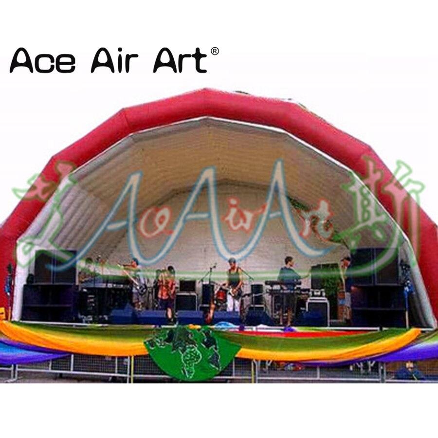 Fond de concert Vocal gonflable de performance de tunnel d'étape de musique géante gonflable de livraison gratuite, tente de dôme
