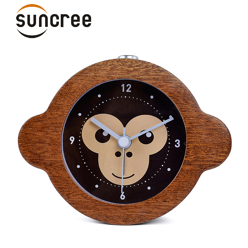 Suncree Chinese Zodiac series Monkey clever alarm clock No Ticking Snooze Backlight Digital Clock, Desktop Table Clocks