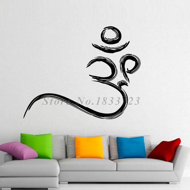 New Arrival Buddhism Om Symbol Wall Stickers Creative Design Art - Vinyl wall decal adhesive