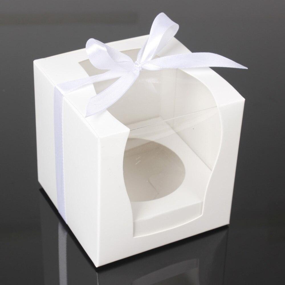 12PCS/LOT White Paper Cupcake Box Cake Box Party Wedding Favor Boxes ...