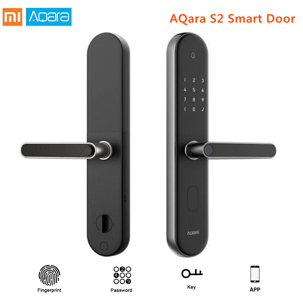 Оригинал Сяо mi Цзя Aqara S2 Aqara пальцев умный дверной замок работать с mi приложение Home замок без ключа для сяо mi умный дом Комплект