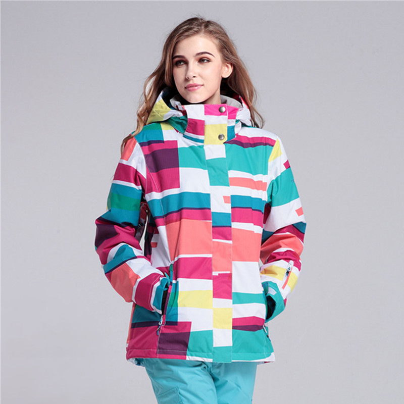 New 2017 winter GSOU ski jacket women snowboard jackets women ski wear chaqueta esqui mujer snow jaket ski jas dames 2017 gsou ski jacket women snowboard winter snow jacket skiwear ski jas heren clothes esqui warm waterproof