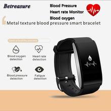 Betreasure Bluetooth 4.0 BT58 Smart Браслет Heart Rate Приборы для измерения артериального давления Водонепроницаемый Одежда заплыва умный Браслет PK Xiaomi Mi band 2