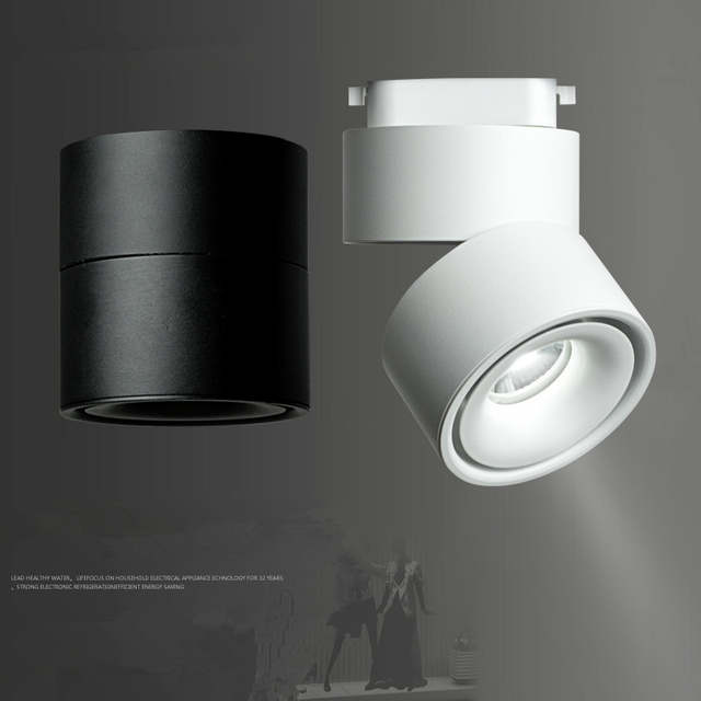 Us 20 62 25 Off Modern Track Light Led Rail Lamp 7w 10w 12w Surface Mounted Lighting Fixture 360 Degree Rotation Cloth Aisle In