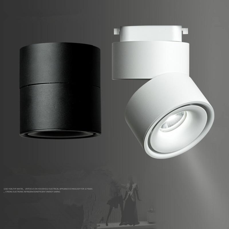 modern track lights led rail lamp 7w 10w 12w surface mounted track lighting fixture 360 degree rotation cloth shop aisle lights