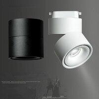 Modern Track Light LED Rail Lamp 7W 10W 12W Surface Mounted Track Lighting Fixture 360 Degree