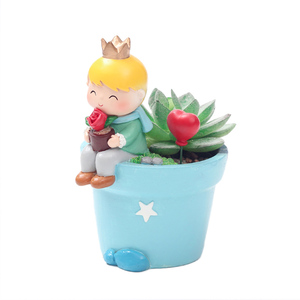 Image 5 - Roogo חמוד נסיך עסיסי סירי עציץ שרף ילד קטן עציץ בונסאי מלאכות בית גן חצר דקור יום הולדת מתנות