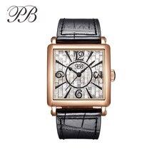 PB Luxury Brand Watch Women Fashion Dress Austria crystal Ladies Watch Stainless Steel Casual Quartz Wristwatch HL650