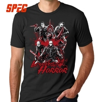 Legends Of Horror Movie T Shirt Friday The 13th Jason Voorhees Freddy Men Tee Shirt 100