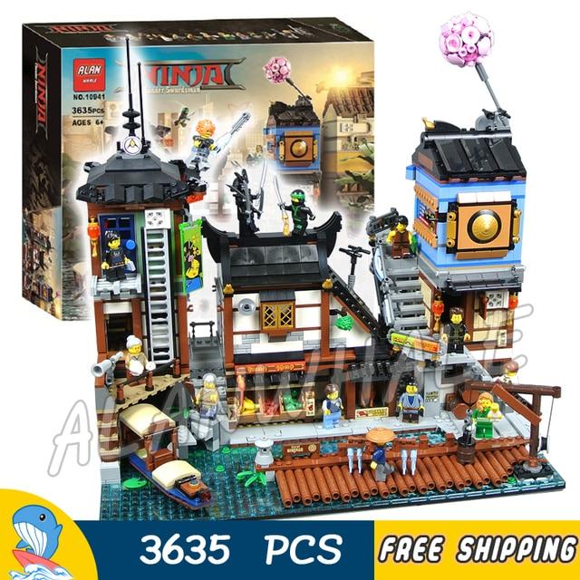 3635pcs Ninja Movie City Docks Harbor Boat House Old World 10941 Model Building Blocks Assemble Toys Bricks Compatible With Lego In Blocks From Toys