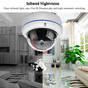 Image 4 - ONVIF IP كاميرا 5MP المخرب واقية مقاوم للماء كاميرا على شكل قبة للخارج الصوت الداخلي الوصول عن بعد Xmeye سحابة H.265 التخزين المنخفض