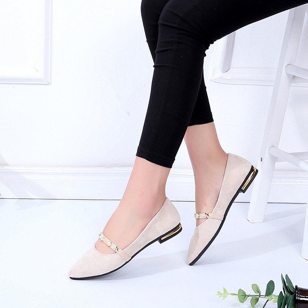 Plates 16 Femmes Mujer Sauvage Profonde rose Peu noir Muqgew Des Simples Pointues Dames Chaussures Zapatos Beige Bouche Casual S5nxA