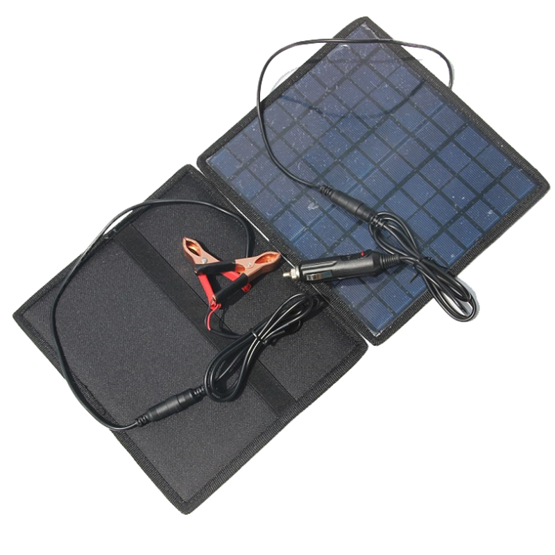 HOT-18V 5.5W Solar charger Solar Panel /battery Charger For Car/Moto Power other 12V Rechargeable Battery