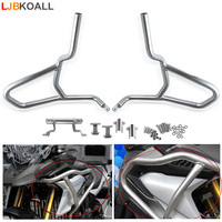LJBKOALL For BMW G310 GS G310GS 2017 2018 Stainless Steel Silver Tank protector Upper Carsh Bars Guard Engine Bumper Cover