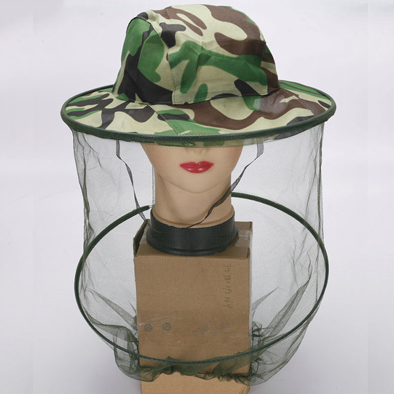 Garden Supplies 1pc Bug Insect Bee Mosquito Fly Resistance Net Mesh Face Fishing Outdoor Camping Hiking Hat Protector Cap Camouflage Pure White And Translucent