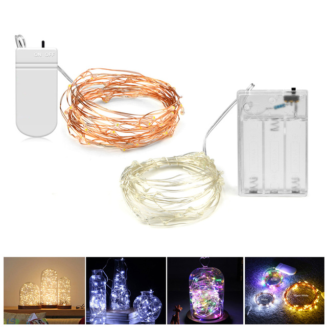led holiday light 2m 5m battery charger operated fairy lights led string light garland party wedding