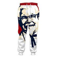 Śmieszne KFC pułkownik 3D joggers Spodnie Mężczyźni casual luźne spodnie Bottoms mężczyźni odzież dla Unisex hip hop styl Pantalon Homme tanie tanio Pełna długość Mężczyzn w przypadku cjlm Midweight 24 4-32 3 Plisowana Spodnie harem Połowie Spandex poliester Sukno