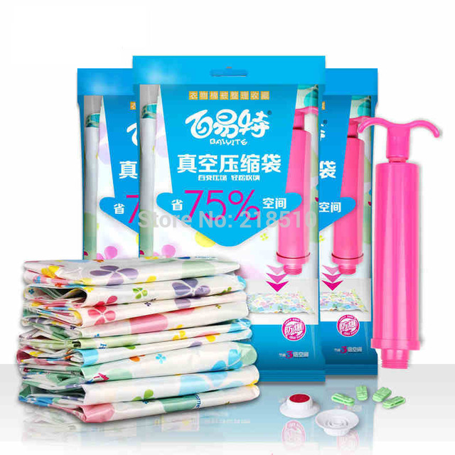 10Pcs / Pack Special wholesale High Quality Vacuum Compression Bags Quilt Vacuum Storage Bag +1  sc 1 st  AliExpress.com : vacuum storage bag pump  - Aquiesqueretaro.Com