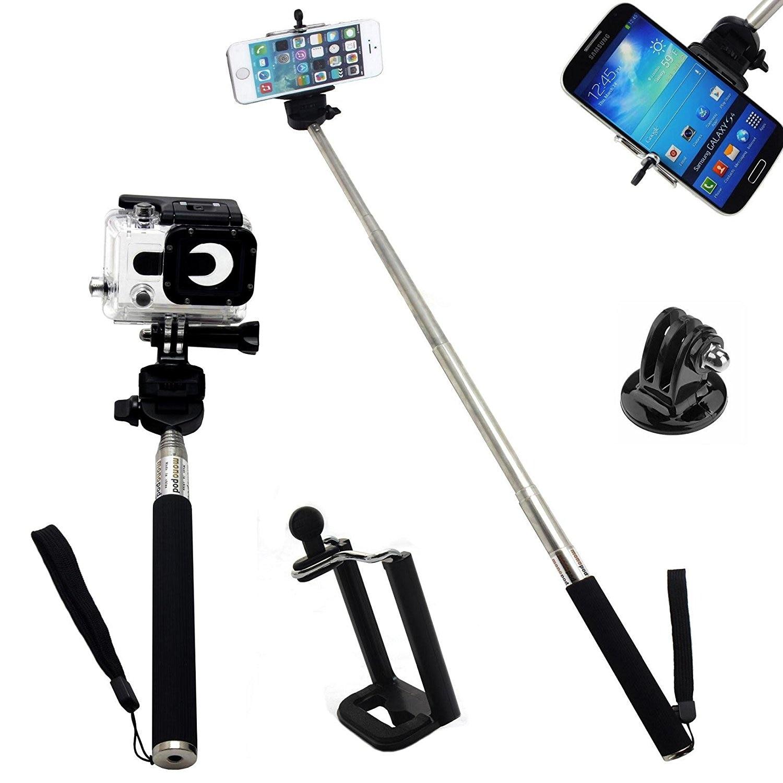 Feocont hd корпус и телескопический ручной монопод и Адаптер штатива и мобильного телефона держатель для GoPro Hero <font><b>iphone</b></font> Sumsung