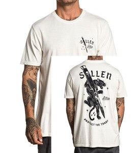 SULLEN одежда, футболка с вырезами, серая, новинка, унисекс, модные футболки, топы, футболки, футболки