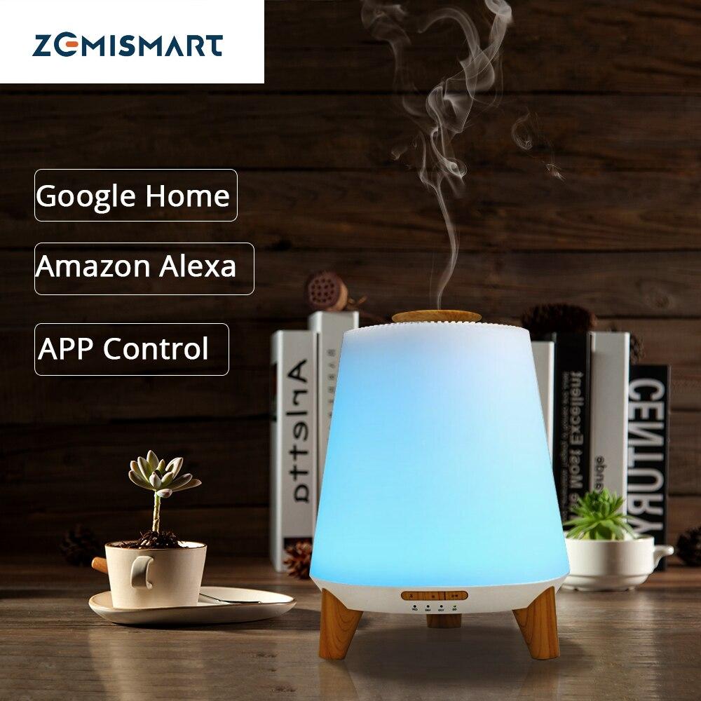 Smart эфирное масло Арома диффузор увлажнитель прохладный туман RGB светодио дный настольная лампа работы с Alexa Google домой голос приложение Упра...