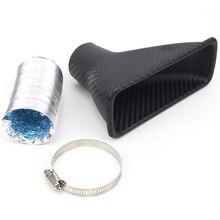 Автомобильный передний бампер турбо воздухозаборник ABS 4,5 см диаметр квадратная универсальная турбина впускная труба воздушная воронка