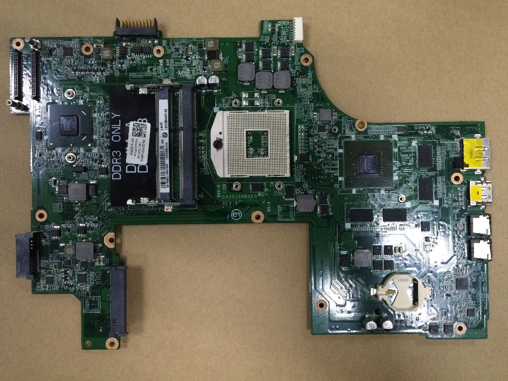 working perfectly Dav03amb8e1 for dell 17R N7110 Laptop Motherboard 037F3F with Nvidia Video card